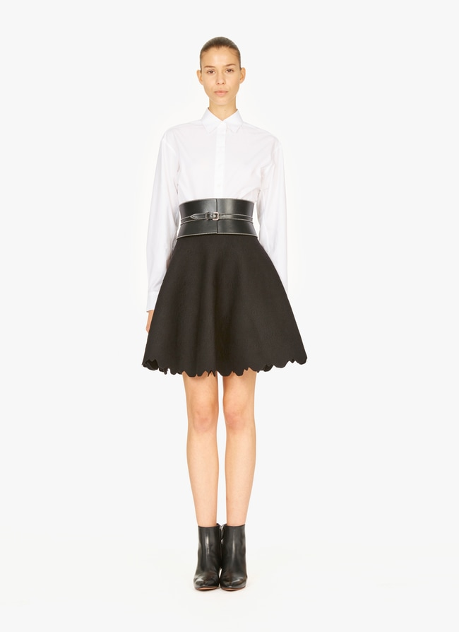 Flared knitted skirt - maison-alaia.com