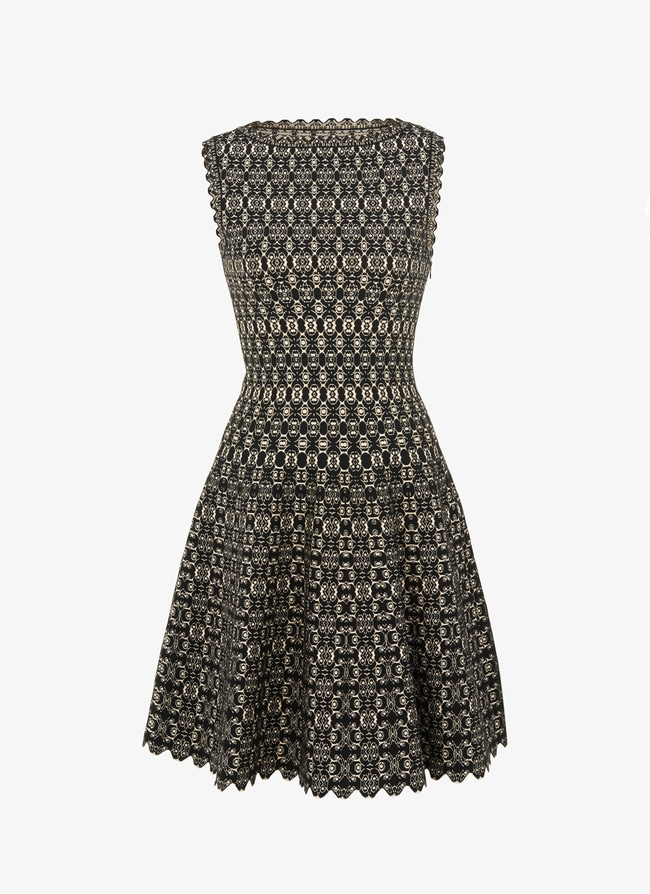 FLARED KNITTED DRESS  - maison-alaia.com