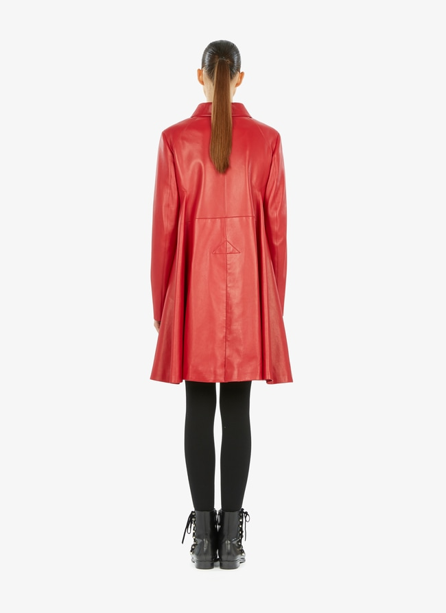 Leather Coat - maison-alaia.com
