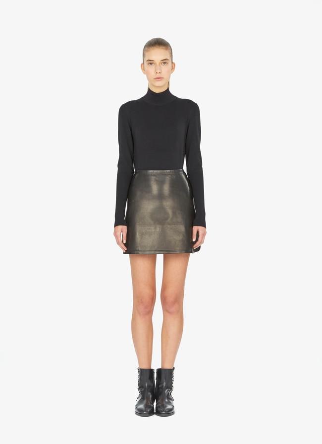 Mini leather skirt - maison-alaia.com