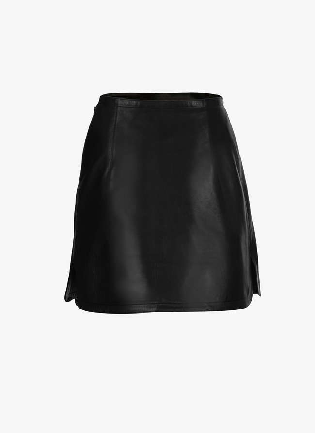 Mini leather skirt - maison-alaia.com