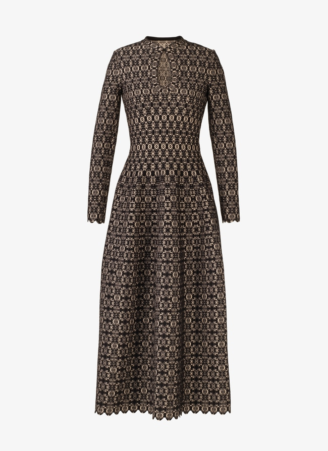LONG KNITTED DRESS  - maison-alaia.com