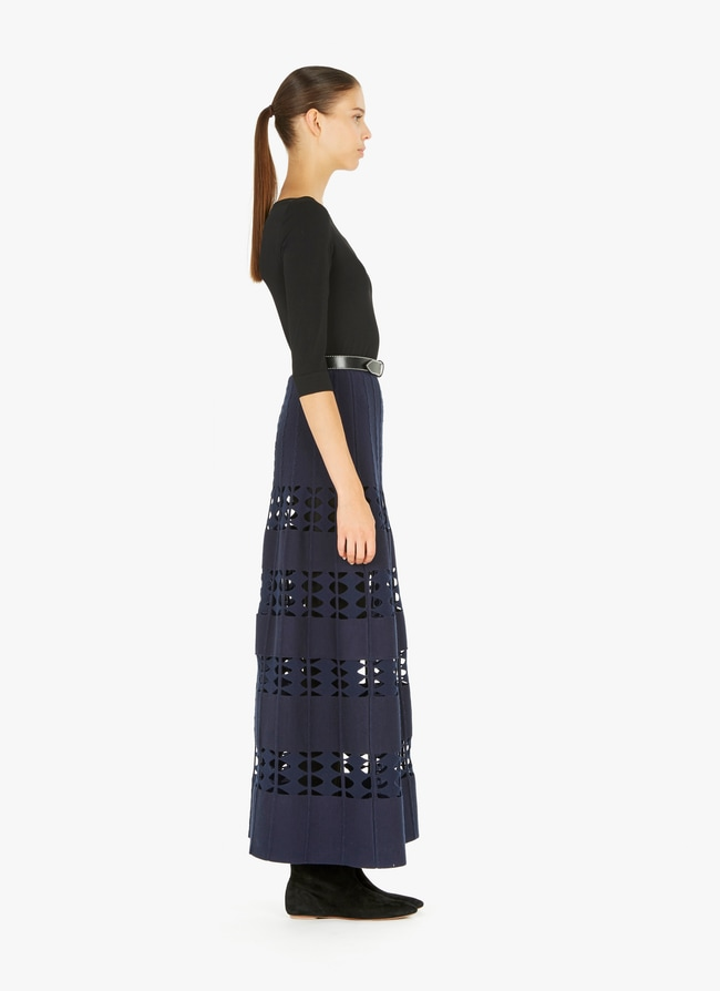 Long Flared Knitted Skirt - maison-alaia.com