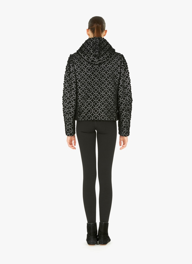Embroidered Hooded Jacket - maison-alaia.com