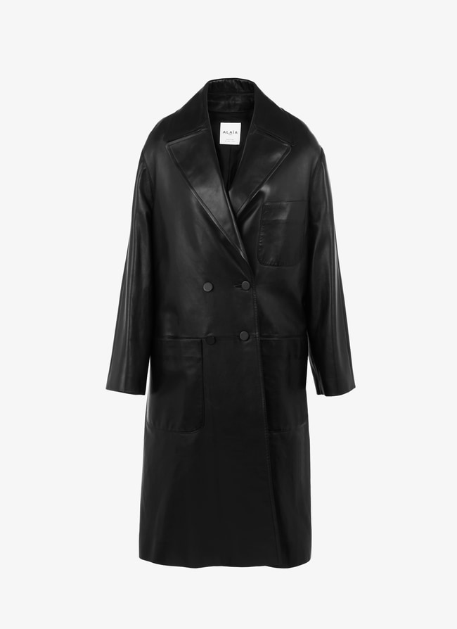 ALAÏA EDITION 1988 Tailored men's style leather coat - maison-alaia.com