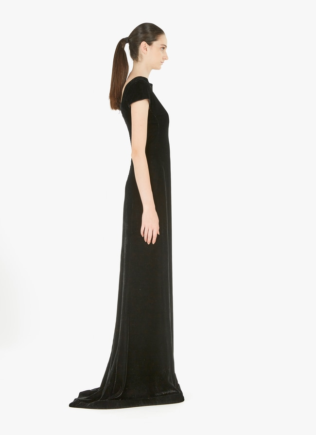 Long velvet dress - maison-alaia.com