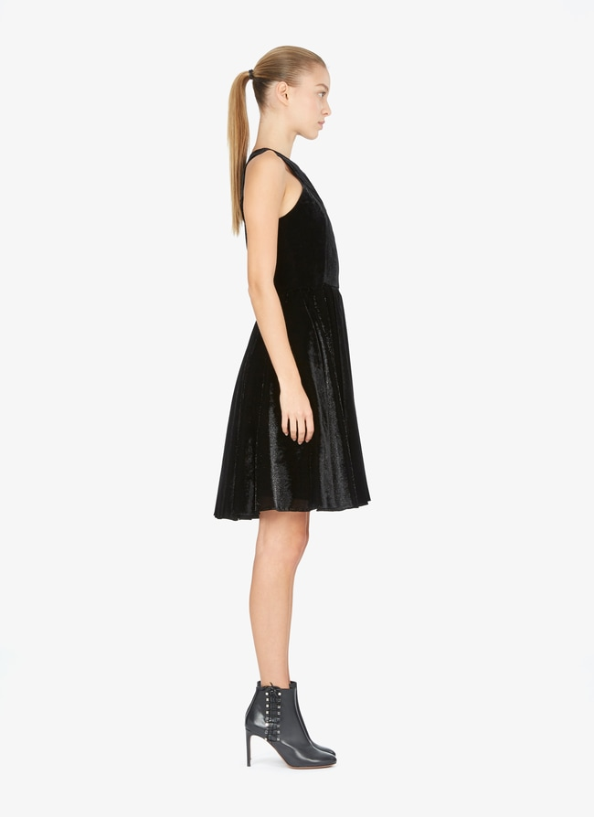 Flared Velvet Dress - maison-alaia.com