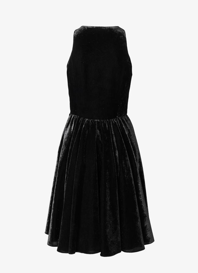 FLARED VELVET DRESS  - maison-alaia.com
