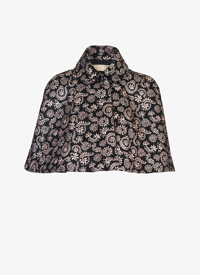 Short embroidered cape - maison-alaia.com
