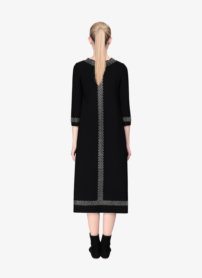 LONG A-LINE KNITTED DRESS - maison-alaia.com