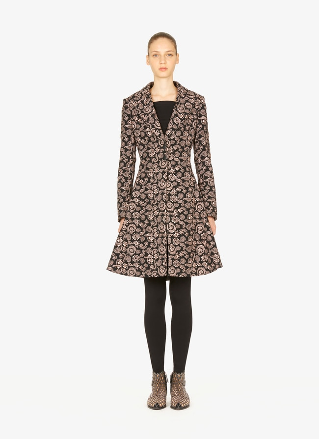 Embroidered Tailored Coat - maison-alaia.com