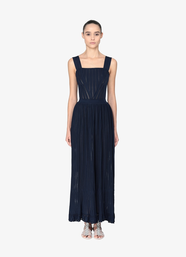 Long Flared Dress - maison-alaia.com