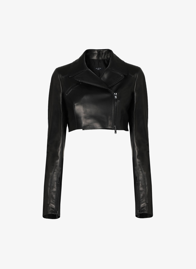 Leather Bomber Jacket - maison-alaia.com