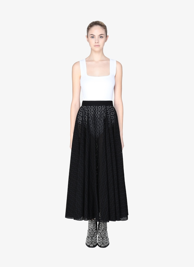 Embroidered Flared Skirt - maison-alaia.com