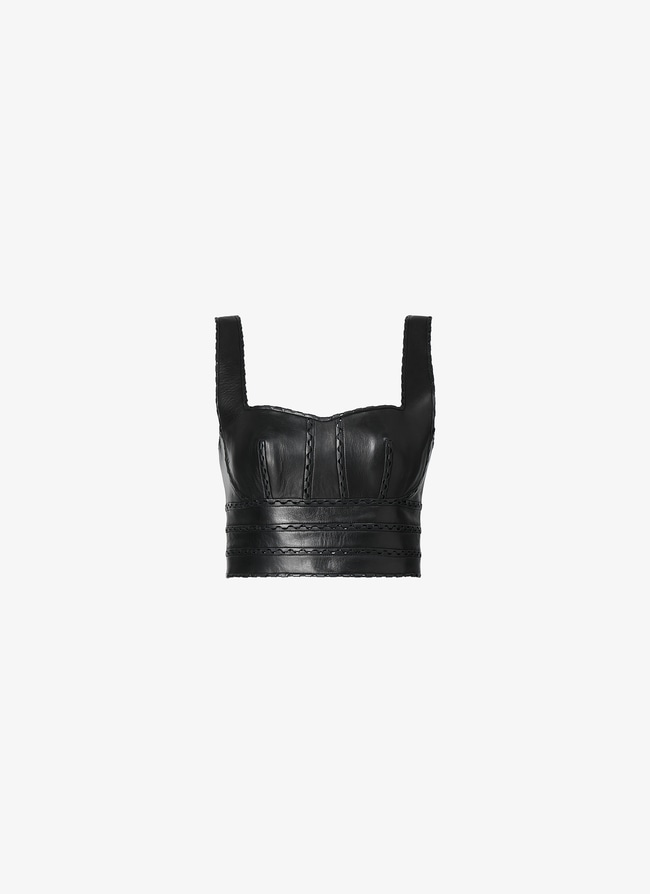 Leather Bustier Top - maison-alaia.com