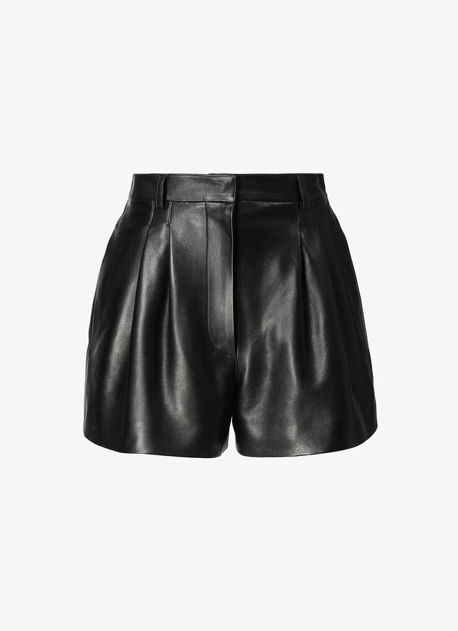 LEATHER STRUCTURED SHORT - maison-alaia.com