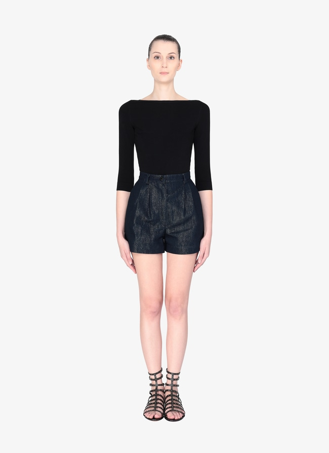 Denim Structured Short - maison-alaia.com