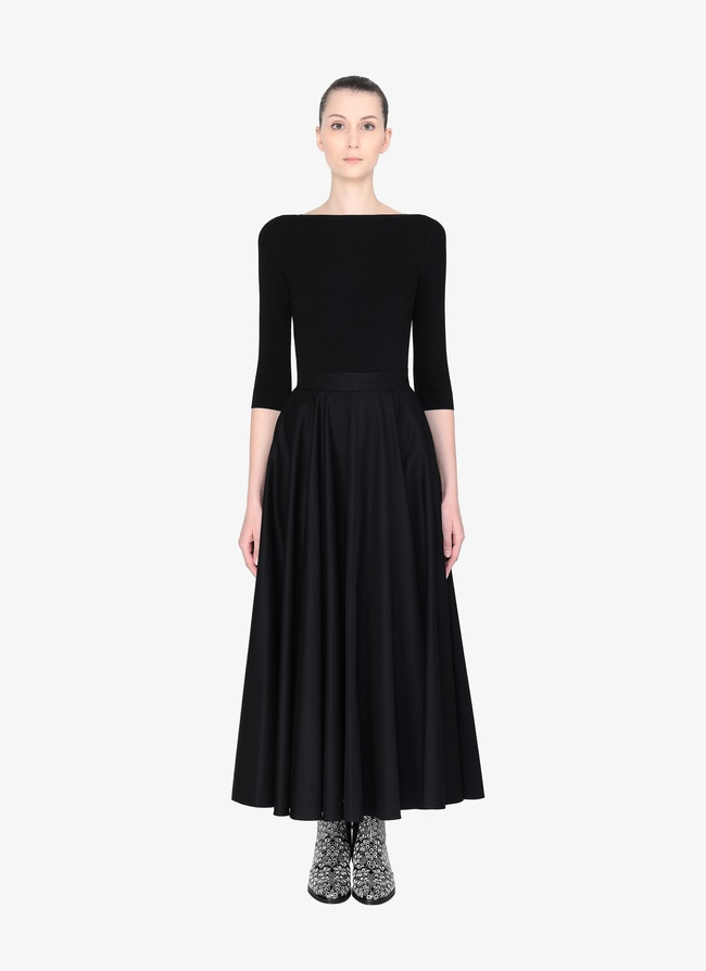 Long Flared Skirt - maison-alaia.com