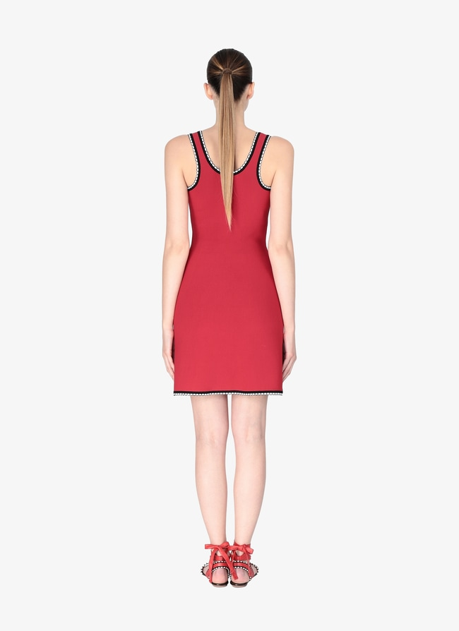 c49328c61b3 Women s Red Black Knitted Dress