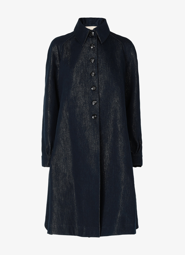 DENIM SHIRT COAT  - maison-alaia.com