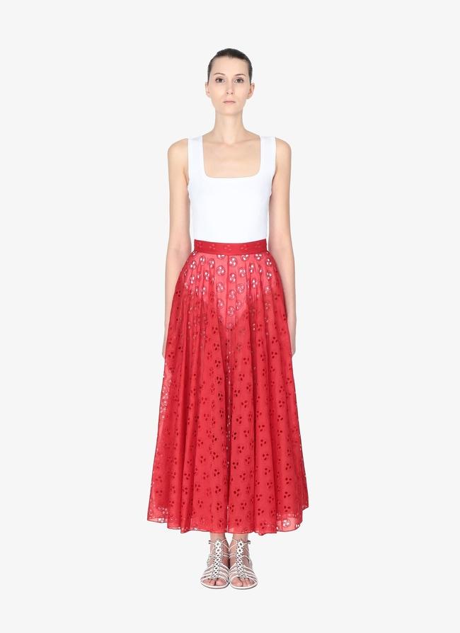 Embroidered Flared Skirt - maison-alaia.com