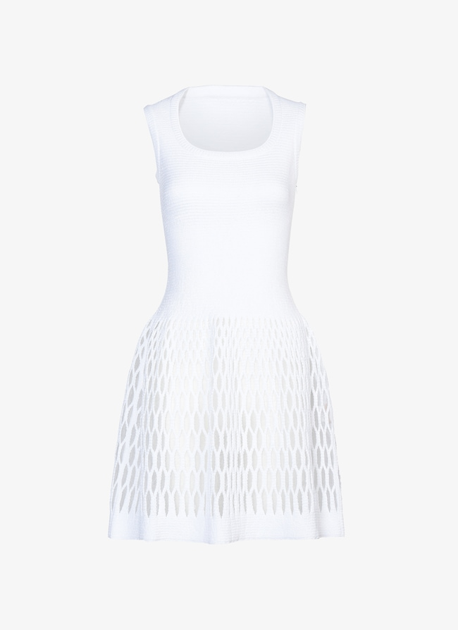 Knitted Mini-Dress  - maison-alaia.com