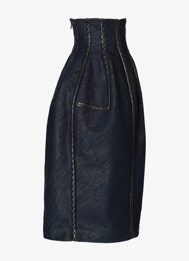 Denim Midi Skirt - maison-alaia.com