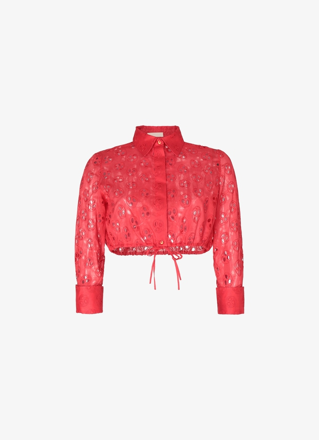 Embroidered Cropped Shirt - maison-alaia.com