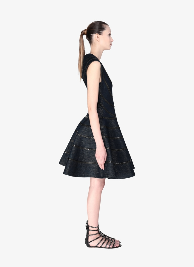 Sleeveless Denim Dress - maison-alaia.com