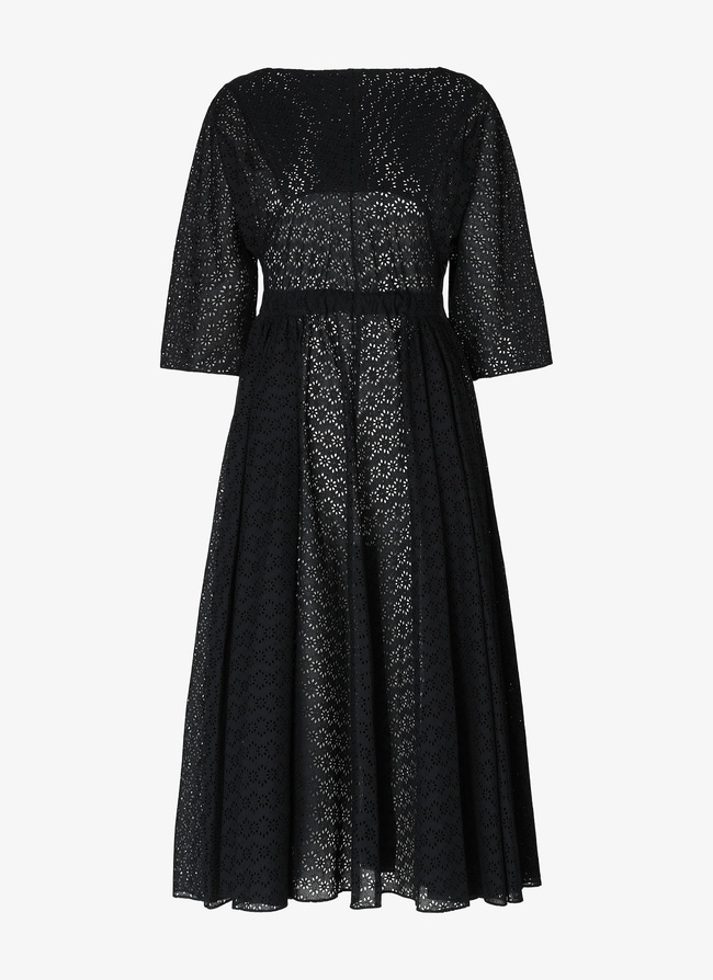 Long Embroidered Dress - maison-alaia.com
