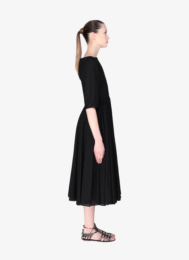 Long Embroidered Dress - maison-alaia.com