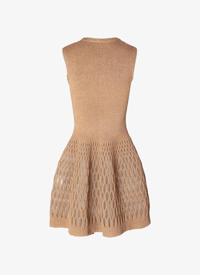 Knitted Mini-Dress  - maison-alaia.com