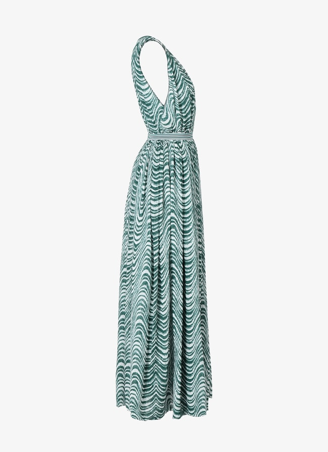 Sleeveless Silk Dress - maison-alaia.com
