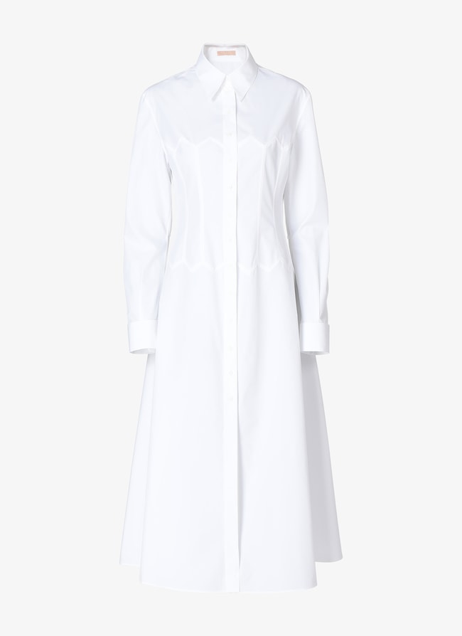 Long-Sleeved Shirt Dress - maison-alaia.com