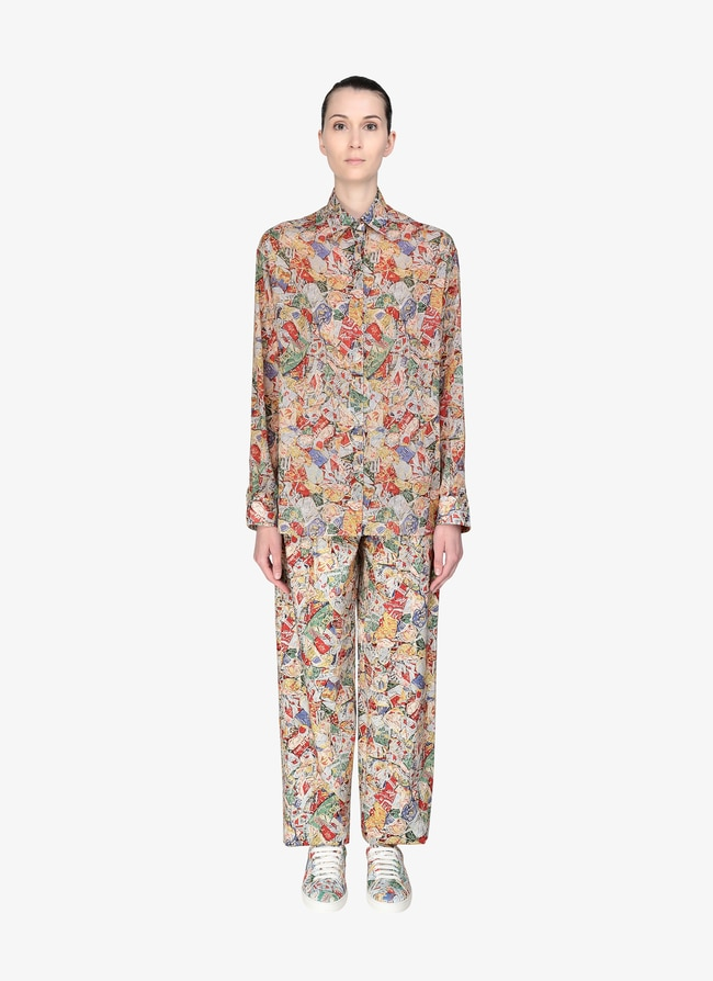 Fitted Cotton Shirt  - maison-alaia.com